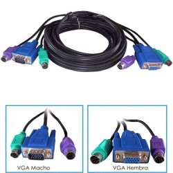 Kit Cable KVM Macho - Hembra 1,5mts