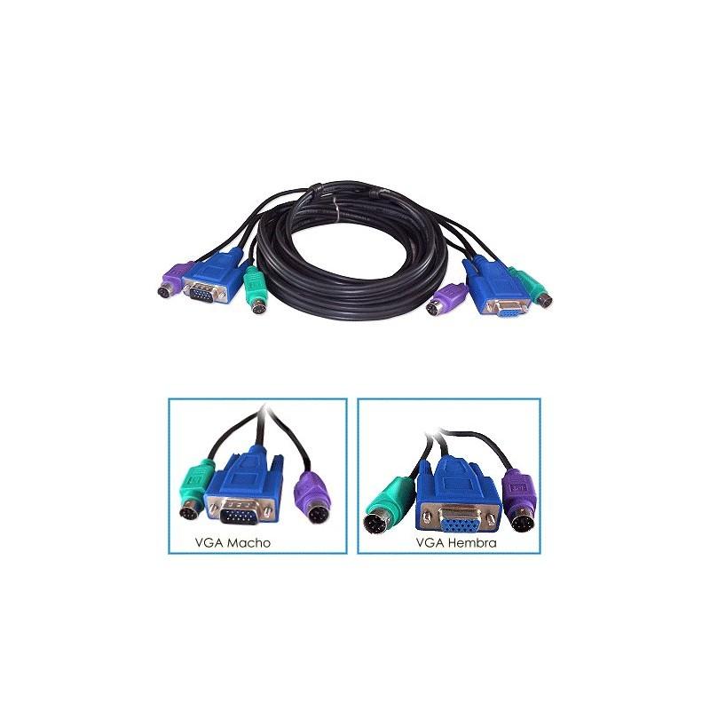 Kit Cable KVM Macho - Hembra 1,5mts