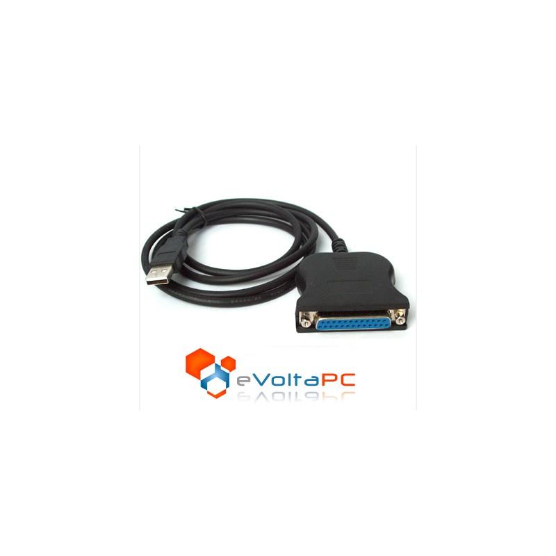 Cable USB a Paralelo DB-25 Hembra para Impresora