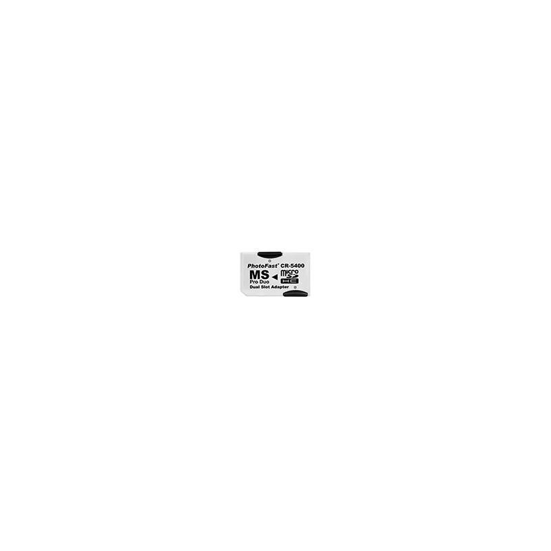Adaptador Dual 2 x Micro SD a Memory Stick Duo FotoFast CR-5400