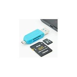 Lector USB 2.0 OTG Memoria SD Micro SD Smartphone