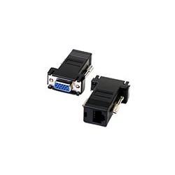 Par Extensor VGA Hembra a Conector RJ45 Cat5 Cat5e Adaptador
