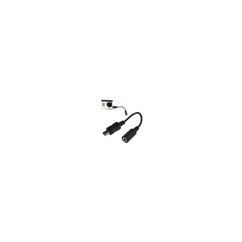 Cable Adaptador Microfono Externo 3,5mm Mic GoPro Hero 3 3+