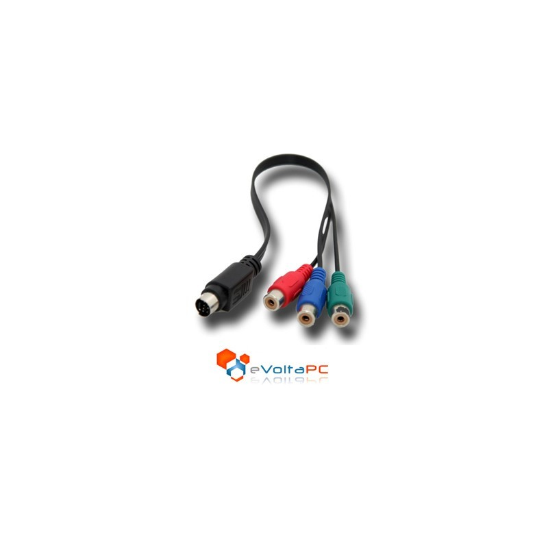 Cable Adaptador S-Video 7 pines a RGB Componente para TV