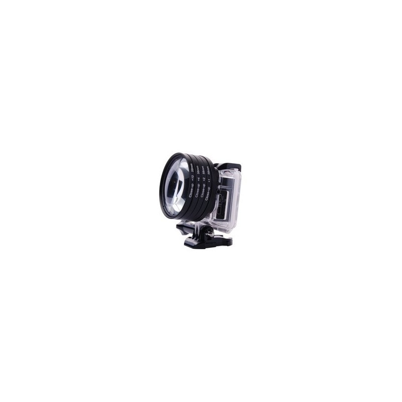 Anillo Adaptador Para Gopro Hero3 2 4 4 1 58mm Close Up 10 Kit Filtro