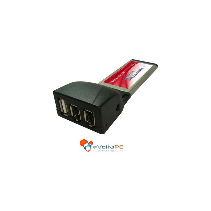 Tarjeta ExpressCard 34 Combo a 2 x Firewire 1394a y USB 2.0