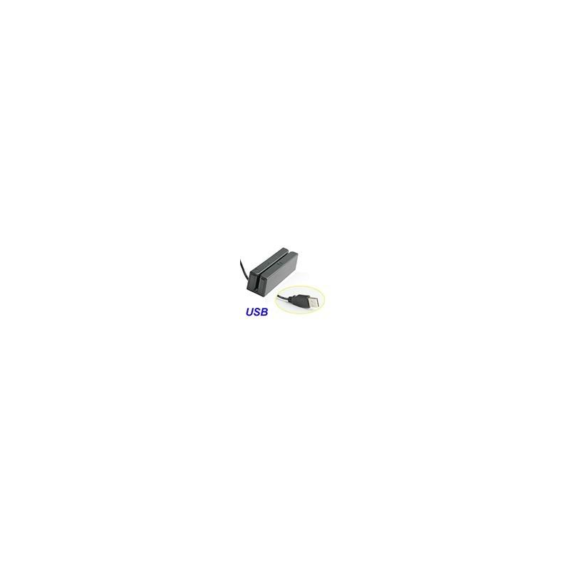 Lector USB de Tarjetas Banda Magneticas Credito Debito Bidireccional
