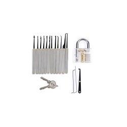 Kit Candado Con Ganzua Para Practicar Lock Cerrajeria