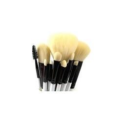 Kit 10 Pinceles Brochas de Maquillaje Profesional Belleza Mujer