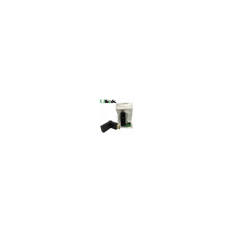 Adaptador Rotatorio 360° HDMI macho a HDMI Hembra