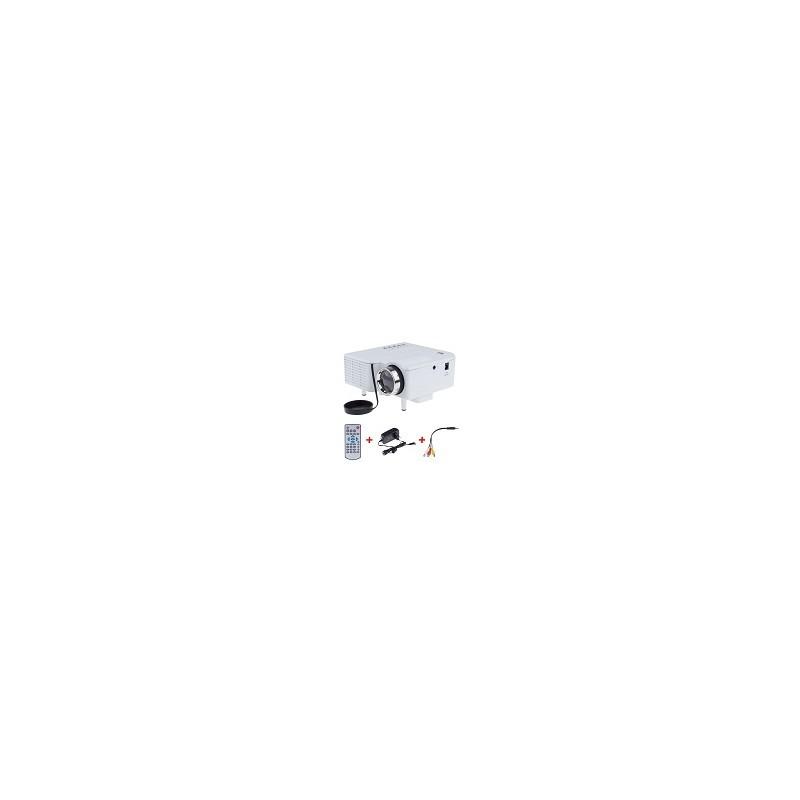 Mini Proyector UC28 Multimedia Digital LED Con altavoz Incorporado Entrada AV VGA USB SD HDMI